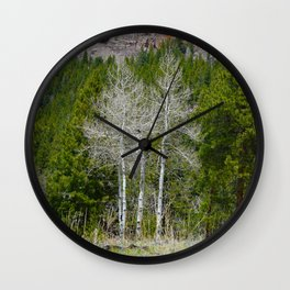 After the Leaves Fall Wall Clock