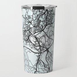 Santiago de Compostela, Spain, White, City, Map Travel Mug