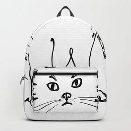 Katzen 012 / Cute Kitten Minimal Line Drawing Backpack