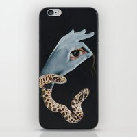 all seeing eye iPhone & iPod Skins featuring All seeing eye I. by Daniela Samcova Collage