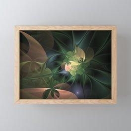 Fractal Floral Fantasy Framed Mini Art Print