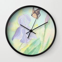 Once upon a time, in a watercolor garden Wall Clock