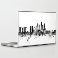 singapore Laptop & iPad Skins featuring Singapore Skyline by artPause