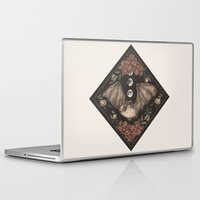 bat Laptop & iPad Skins featuring Bat  by Jessica Roux