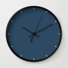 Sailor Blue | Pantone Fashion Color Spring : Summer 2018 | London Solid Color Wall Clock