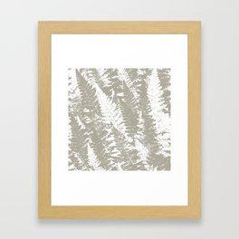 Gray Ferns Photo Art Print Pattern Framed Art Print