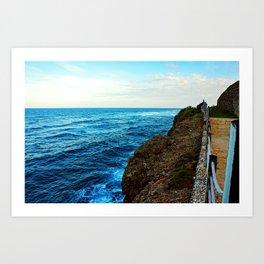 Pathway Along the Coast Art Print