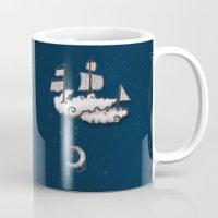 ship Mugs featuring SHIP by Jumanaah Hiasat