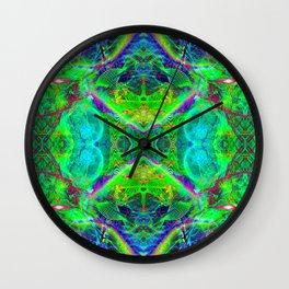 Techno Electric III (Ultraviolet) Wall Clock