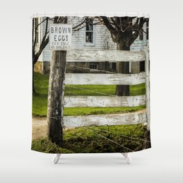 Brown Eggs for Sale Shower Curtain