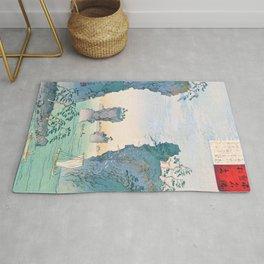 Kobayashi Kiyochika - Sketches of the Famous Sights of Japan - Matsushima - Digital Remastered Edition Rug