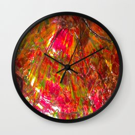 Tropical Sunset Ammolite Wall Clock