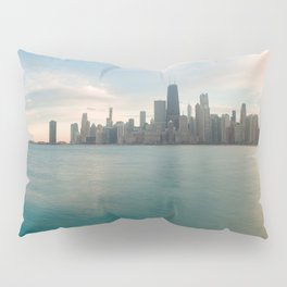 Tonight -Chicago Skyline Photography Pillow Sham