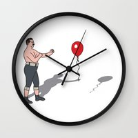 boxer Wall Clocks featuring Boxer by Josh Ross