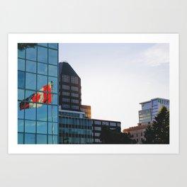 Canadian Reflection Art Print
