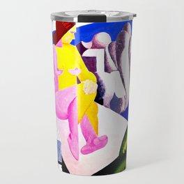 Figure Composition Carmel by Edwin Ambrose Webster - Vintage Painting Travel Mug