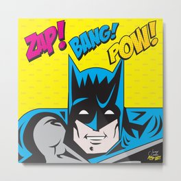 Bat man | Pop Art Metal Print