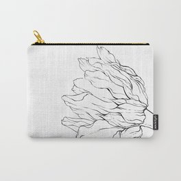 Sunflower Ink Illustration Light Carry-All Pouch