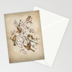 Too many birds Stationery Cards