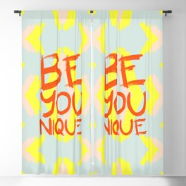 Be-You-Nique #society6 #motivational Blackout Curtain