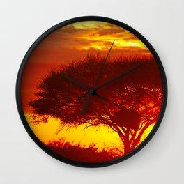 Glowing African Morning Wall Clock