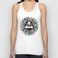 all seeing eye Tank Tops featuring All seeing camera eye by dsimpson