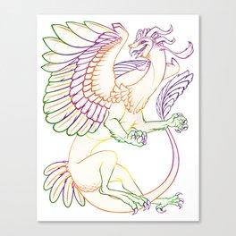 Oaxacan Barn Owl Dragon lineart Canvas Print