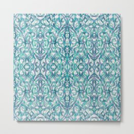 Floral Abstract Pattern G27 Metal Print