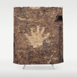 The Ancient Handshake Shower Curtain