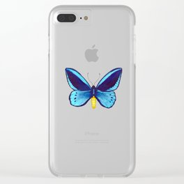 Blueberry Breeze Clear iPhone Case
