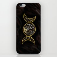 steam punk iPhone & iPod Skins featuring steam punk goddess  by Shonda Robb
