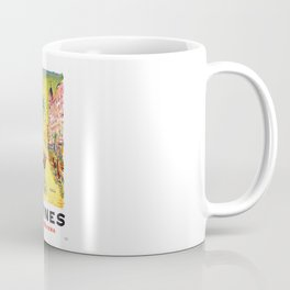 1958 CANNES French Riviera Travel Poster Coffee Mug