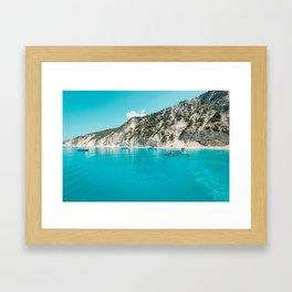 Greece beach paradise Framed Art Print