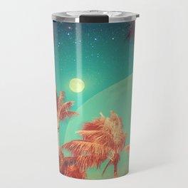 Tropical Miami Palm Trees Moon Stars Magical Fantasy Nature Photography Travel Mug