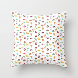 Animal Tiles Throw Pillow