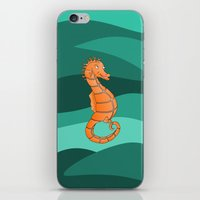 seahorse iPhone & iPod Skins featuring Seahorse by mailboxdisco