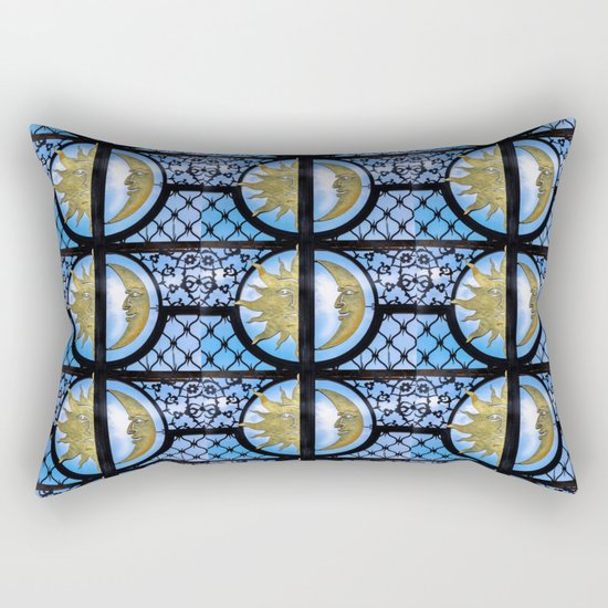 Sun and Moon pattern Rectangular Pillow