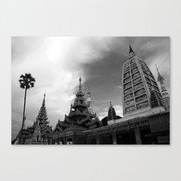 From Myanmar, With Love - Shwedagon Pagoda, Yangon Myanmar Canvas Print