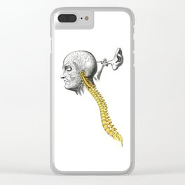 spinal column Clear iPhone Case