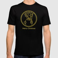 Merry Christmas from Gallifrey Mens Fitted Tee Black MEDIUM