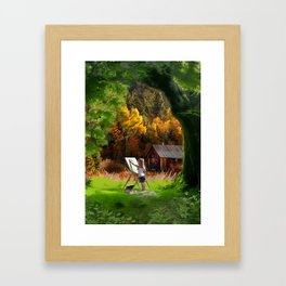 wonders of childhood Framed Art Print