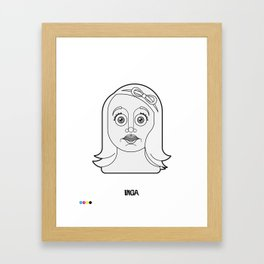 Inga - Frankenstein Junior - Vector Portraits of main characters of cult movies Framed Art Print