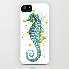 Seahorse: Green Slim Case iPhone (5, 5s)