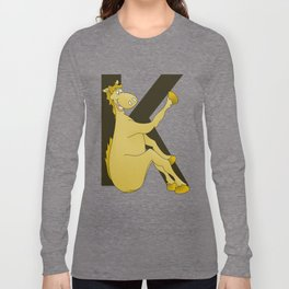 Pony Monogram Letter K Long Sleeve T-shirt