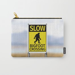 Bigfoot Crossing Sign Carry-All Pouch