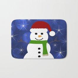 Holiday Snowman Bath Mat