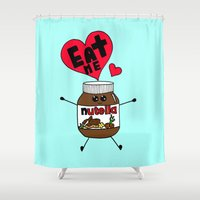 nutella Shower Curtains featuring Nutella by Aurelie