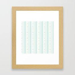 Blush green bohemian arrows zigzag geometrical Framed Art Print