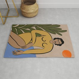 """Matisse Inspired """"Be gentle with me"""" Rug"""