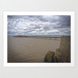 Birnbeck Pier. Art Print